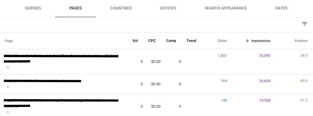 google search console impression tracking 605a1602c72f7